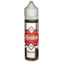 Looking for a new eJuice? Try: Darwin by British....  Find it on eLiquid.com at: http://www.eliquid.com/products/darwin-by-british-vapor-co?utm_campaign=social_autopilot&utm_source=pin&utm_medium=pin