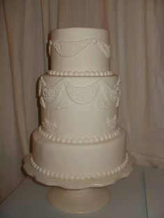 #weddingcakes #lace - www.lindascreationscustomcakes.com Wedding Cakes, Lace, Desserts, Food, Wedding Gown Cakes, Tailgate Desserts, Deserts, Wedding Cake, Racing