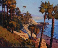 Heisler Park View by Michael Situ Oil Crashing Waves, Palm Trees, Ocean, Explore, Park, Oil, Amazing, Artists, Beautiful