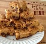 Chewy, Delicious Blondie Bars