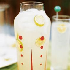 Lime Rickey... YUM. Can also make virgin (sans gin) and low-cal - sub. sugar for zero calorie sweetener or even agave. Delicious and refreshing.