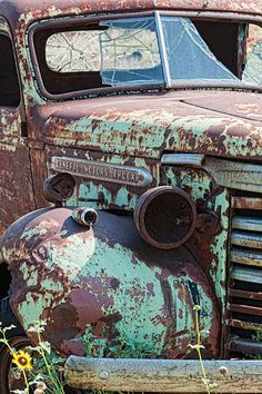 Abandoned truck on Route 66, historically one of the most famous highways in the US . . . .