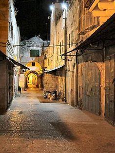 Jerusalem Old City, soft night light, so ethereal...