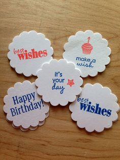 20 Tags/Cupcake Toppers/Baby Boy Birthday by KipseysCardShop, #tags #cupcaketoppers #giftags