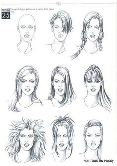 Mode Croquis Hairstyle - New Hairstyles - - Cartoon Drawings, Art Drawings, Drawing Art, Fashion Illustration Hair, Top Photos, Hair Sketch, Art Inspiration Drawing, Fashion Design Sketches, How To Draw Hair