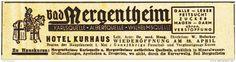 Original-Werbung/ Anzeige 1936 - BAD MERGENTHEIM / HOTEL KURHAUS / MOTIV RITTER…