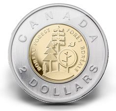 2011 two-dollar coin - Parks Canada boreal forest