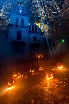 Spooky lighting ideas for halloween night 2019 00004 ~ Home Decoration Inspiration Halloween Haunted Houses, Halloween House, Spooky Halloween, Halloween Themes, Halloween Decorations, Happy Halloween, Halloween Projects, Pumpkin Decorations, Halloween Queen