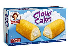 """Cloud Cakes - """"Is this heaven? No, they are Cloud Cakes!""""  There is hope, now that Twinkies are gone!"""