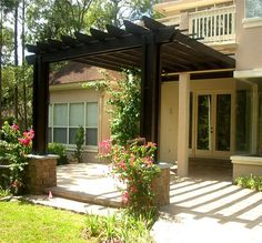 Delightful Decorate The House Entrance With Pergola