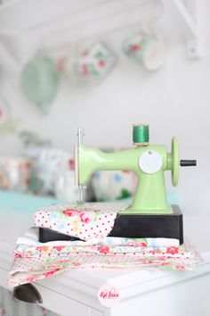 Syl loves, minty mint, floral, fabric