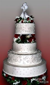 round red and black and white wedding cake - Google Search
