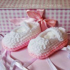 Cute pink Booties Free crochet Pattern