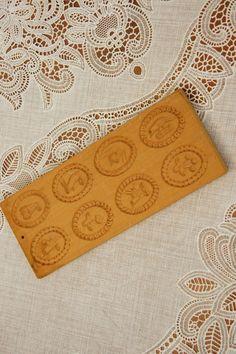 Vintage 60s-70s Wooden German Cookie Stamp by SycamoreVintage