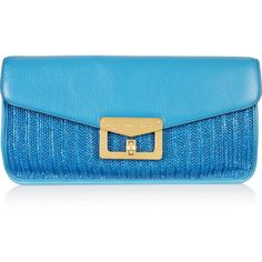 Marc by Marc Jacobs Bianca Dreams of Monte Carlo raffia and leather... ($110) ❤ liked on Polyvore