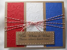 Nothin' Fancy: Patriotic Themed Card