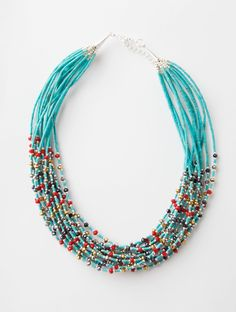 Summery turquoise bead necklace