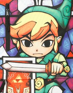 Stained Glass Link Is Armed And Ready On This Backpack