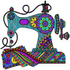 31 Ideas Sewing Machine Quotes Embroidery Designs For 2019 Sewing Machine Drawing, Sewing Machine Quilting, Sewing Machine Covers, Vintage Embroidery, Embroidery Applique, Machine Embroidery Designs, Embroidery Jewelry, Sewing Art, Sewing Crafts