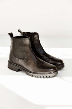 Silence + Noise Treaded Leather Ankle Boot