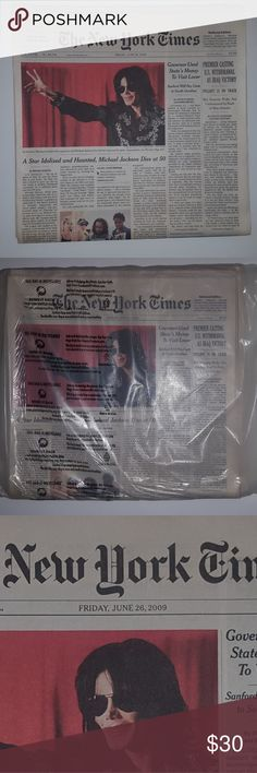 Rare Michael Jackson New York Times Fresh New York Times from June 26th NY Times Other