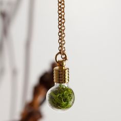 Globe Necklace Gold Plated now featured on Fab.With Roots  Homegrown, Wearable Gardens