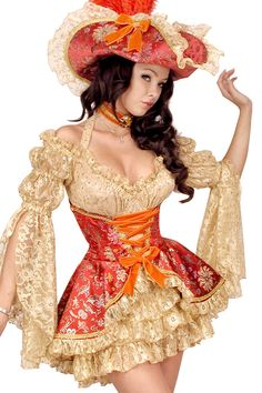 Pirate Wench Corset Over-Dress - would love to make this in a longer version.