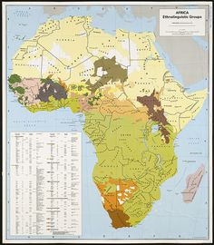 Africa, ethnolinguistic groups by Norman B. Leventhal Map Center at the BPL