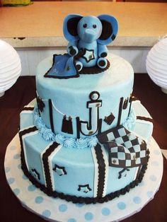 sweet baby elephant baby shower cake $165
