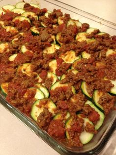 Paleo Zucchini Lasagna -- Made this last night for myself and 3 others and they LOVED it!! :-) (I did add a little motz cheese to the top)  Delicious!