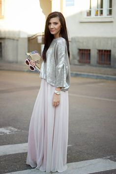 Chic and Silk: STREET STYLE: Neutral Maxi Φούστα!