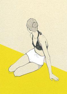 'Beach' by Magda Pankiewicz on wall-being