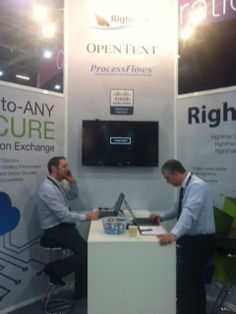 Our stand with OpenText at the Cisco Live Event in London January 2013