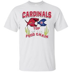 Cardinals Food Chain. Product Description We use high quality and Eco-friendly material and Inks! We promise that our Prints will not Fade, Crack or Peel in the wash.The Ink will last As Long As the Garment. We do not use cheap quality Shirts like other Sellers, our Shirts are of high Quality and super Soft, perfect fit for summer or winter dress.Orders are printed and shipped between 3-5 days.We use USPS/UPS to ship the order.You can expect your package to arrive...