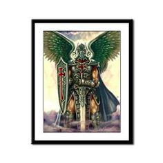 Archangel Uriel Framed Panel Print