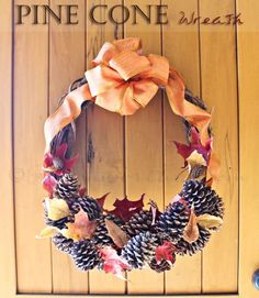 Pine Cone Wreath | Pine Cone Projects To DIY This Fall