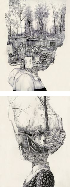Pat Perry your plait people make me very happy. – Pat Perry is an artist and illustrator from Michigan. Graphic Novel, A Level Art, Abstract Images, Art Plastique, Moleskine, Pat Perry, Gravity Falls, Oeuvre D'art, Art Inspo