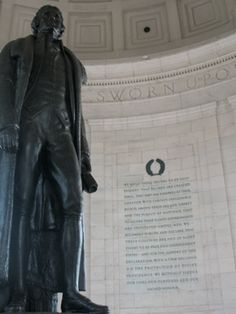 At the Jefferson Memorial in Washington D.C.