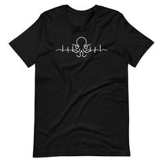 Octopus is Life T-Shirt - Black Heather / S