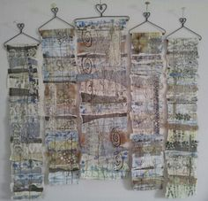 Hannemade sewing and textiles wall hangings.