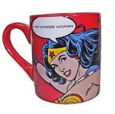 I Am Wonder Woman Coffee Mug Superhero 14 oz Ceramic DC Comics Drinkware New | eBay. Possibly need.