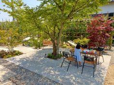 プライベート感のある庭をつくる方法【旅館みたいな平屋暮らし】 | Sumai 日刊住まい Outdoor Projects, Garden Projects, Outdoor Decor, Backyard Trees, Backyard Landscaping, Porches, Asian Landscape, Green Flowers, How Beautiful