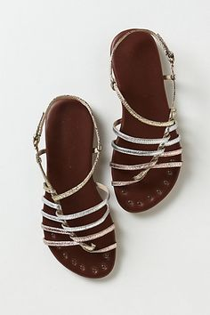 metallic sandals #anthropologie