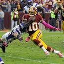 Week 6 Studs: Quarterback #RobertGriffinIII of the Washington #Redskins 182 passing yds 1 td & 138 rushing yds 2 tds.
