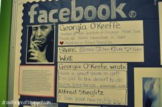 Artist Facebook pages, but what a neat idea to do for someone you are studying, be it authors or explorers