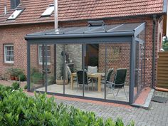 Wohn-Wintergarten / Wintergartenzentrum Münsterland Whilst early in principle, this pergola is suffering from somewhat Small Pergola, Pergola Attached To House, Pergola With Roof, Outdoor Pergola, Patio Roof, Pergola Kits, Modern Pergola, Black Pergola, Corner Pergola