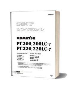 Komatsu Pc200 7 Shop Manual 1 In 2020 Komatsu Manual Shopping