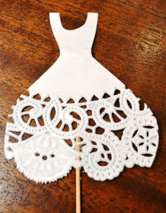 Food Picks Hors D'ouevres wedding dress, Set of 12 Food Decoration, tooth picks wedding bridal shower party white