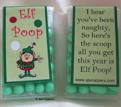Elf Poop  http://ajwrappers.com/elf-pop-tic-tac-wrapper-p-727.html