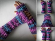 handmade by madewithlovenatali on Etsy Fingerless Gloves Knitted, Knit Mittens, Arm Warmers, Knitting, Trending Outfits, Unique Jewelry, Winter, Handmade Gifts, Etsy
